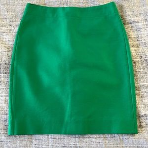 J Crew Green No. 2 Pencil Skirt